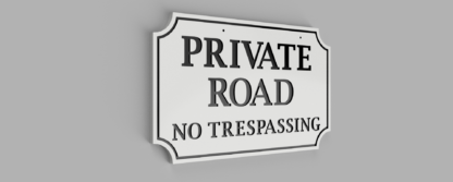 Double-Sided-Private-Drive-Sign-White-with-Black-Photo 3