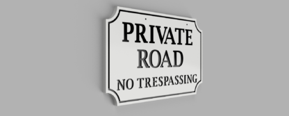 Double-Sided-Private-Drive-Sign-White-with-Black-Photo 2