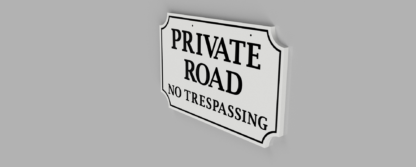 Double-Sided-Private-Drive-Sign-White-with-Black-Photo